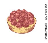 delicious hand drawn tart with... | Shutterstock .eps vector #1275401155