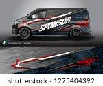 cargo van graphic vector....   Shutterstock .eps vector #1275404392