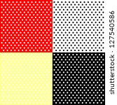 four polka dots backgrounds | Shutterstock .eps vector #127540586