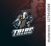 tribe mascot logo design vector ... | Shutterstock .eps vector #1275410068