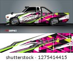 truck wrap design vector.... | Shutterstock .eps vector #1275414415