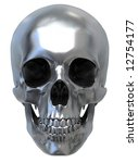 3d Render Of Metallic Skull....
