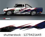 car wrap design vector  truck... | Shutterstock .eps vector #1275421645