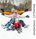 happy family having fun in the...   Shutterstock . vector #127542446