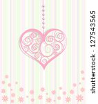 decorative hearts ornament | Shutterstock .eps vector #127543565