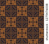 asian look square geometric... | Shutterstock .eps vector #1275476038