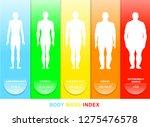 body mass index vector... | Shutterstock .eps vector #1275476578