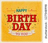 Vintage Card   Happy Birthday....