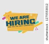 we are hiring | Shutterstock .eps vector #1275553012