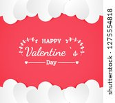 banner valentine day design for ...   Shutterstock .eps vector #1275554818