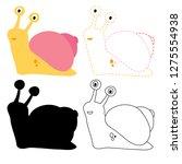 Snail Worksheet Vector Design