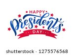 happy presidents day with stars ... | Shutterstock .eps vector #1275576568