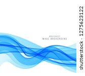 abstract stylish blue wave...   Shutterstock .eps vector #1275623122
