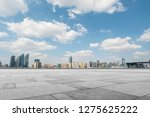 empty marble floors and city... | Shutterstock . vector #1275625222