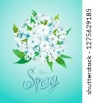beautiful floral background...   Shutterstock .eps vector #1275629185