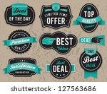 set of vector retro retail... | Shutterstock .eps vector #127563686
