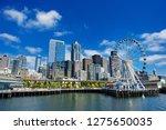 Seattle Ferris Wheel  Skyline...