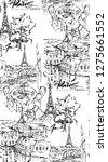 paris illustration. vector... | Shutterstock .eps vector #1275661552