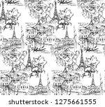 paris illustration. vector... | Shutterstock .eps vector #1275661555