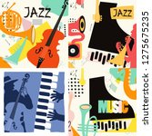 set of music cards and banners. ... | Shutterstock .eps vector #1275675235