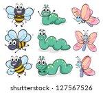 illustration of a caterpillar ... | Shutterstock . vector #127567526