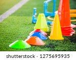 soccer training equipment on... | Shutterstock . vector #1275695935