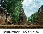 Ancient Padoga View at Ayutthaya, Thailand