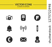 user icons set with pencil ...