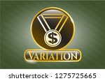 gold shiny emblem with... | Shutterstock .eps vector #1275725665