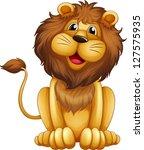 Illustration Of A Happy Lion I...