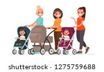 group of moms communicate and... | Shutterstock .eps vector #1275759688
