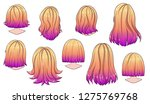beautiful hairstyle of woman... | Shutterstock .eps vector #1275769768