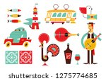 portugal vector icon set simple ... | Shutterstock .eps vector #1275774685
