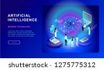 artificial intelligence concept.... | Shutterstock .eps vector #1275775312