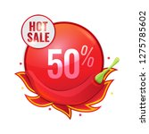 hot sale concept with red... | Shutterstock .eps vector #1275785602