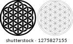 flower of life vector black and ... | Shutterstock .eps vector #1275827155