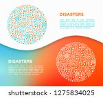 disasters concept in circle... | Shutterstock .eps vector #1275834025