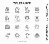 tolerance thin line icons set ... | Shutterstock .eps vector #1275838942