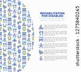 rehabilitation for disabled...   Shutterstock .eps vector #1275840265