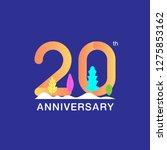 20 years anniversary... | Shutterstock .eps vector #1275853162