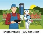 growing plants in the field... | Shutterstock .eps vector #1275853285