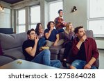 a group of friends are having... | Shutterstock . vector #1275864028