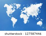 world map shaped clouds | Shutterstock . vector #127587446