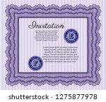 violet vintage invitation...   Shutterstock .eps vector #1275877978
