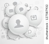 abstract composition of speech... | Shutterstock .eps vector #127587932