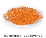 ripe beautiful carrots on a... | Shutterstock .eps vector #1275895492