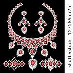 illustration of jewelry set... | Shutterstock .eps vector #1275895525
