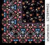 quarter of beautiful bandana...   Shutterstock . vector #1275899452