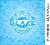 blaze realistic sky blue emblem.... | Shutterstock .eps vector #1275909328