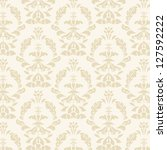 yellow damask seamless pattern   Shutterstock .eps vector #127592222